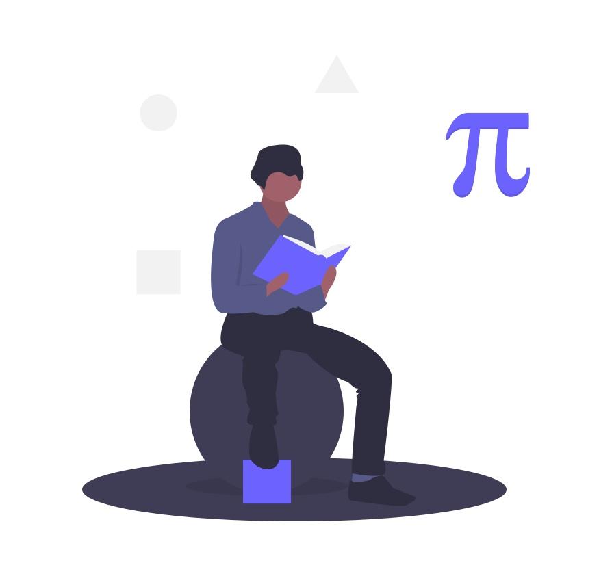 数学を勉強している人の画像