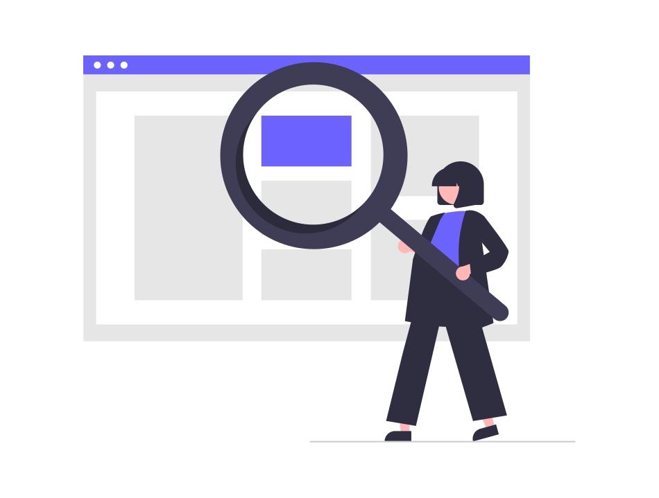 web検索をしている人の画像