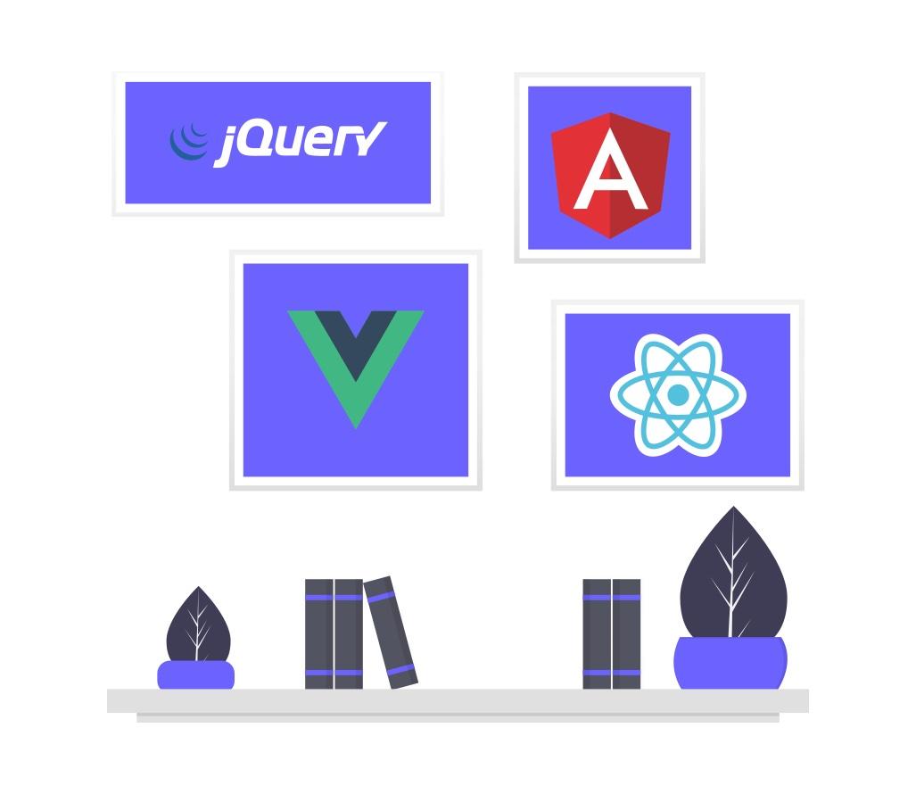 JavaScriptのフレームワークの画像